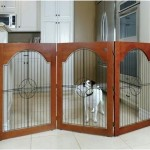 Majestic Pet Universal Free Standing Wire Insert Pet Gate, Cherry Stain – Questions & Answers