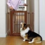 Richell Wood One-Touch Pet Gate, Autumn Matte Finish – Questions & Answers