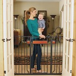Regalo Home Accents Extra Tall Walk Thru Gate, Hardwood and Steel – Questions & Answers